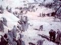 Военнопленные Дарницкого лагеря присыпают землёй расстрелянных